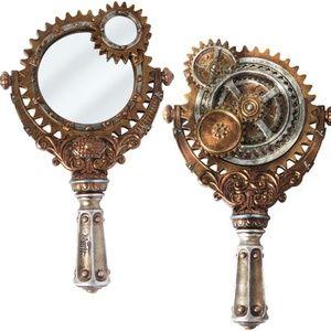 Steampunk Lady Talbot's Retrospector Hand Mirror